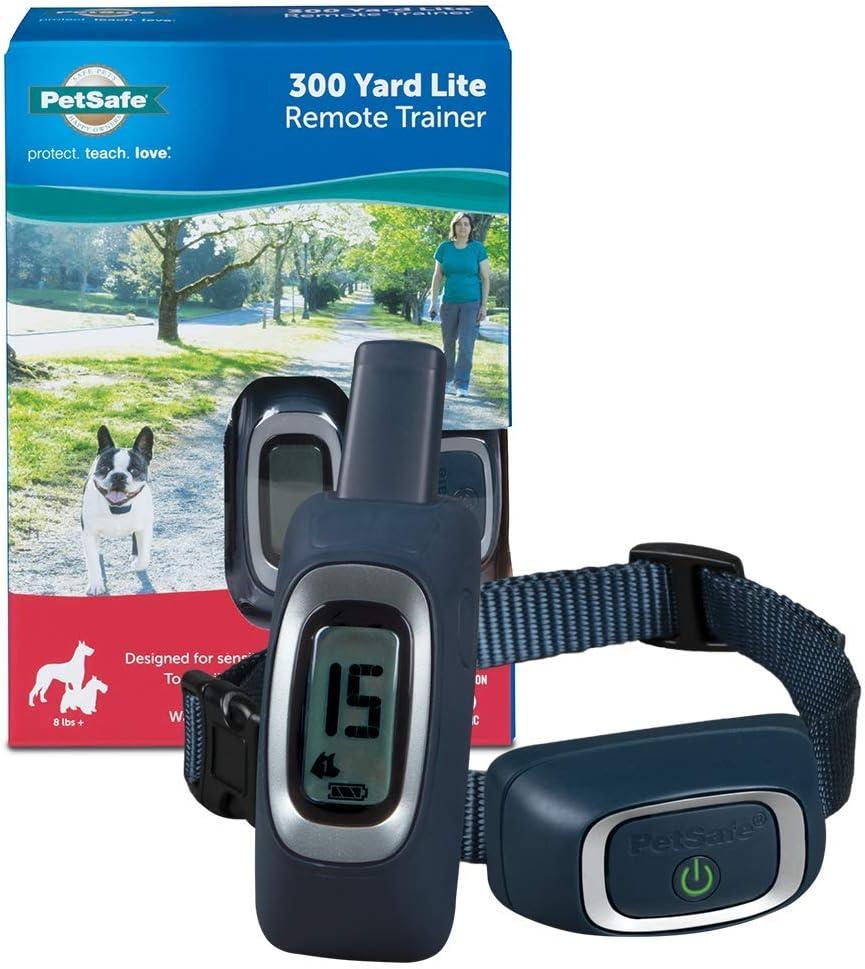 PetSafe Remote Trainer Dog Training Collar - Tone / Vibration / 15 Levels of Static Stimulation - Lite or Standard - Waterproof, Rechargeable w/ 100, 300, 600 & 900 Yard Range Options (300 - 2700 ft)