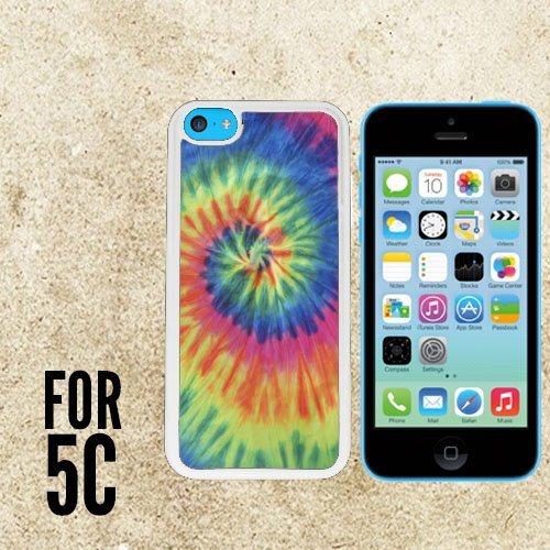 Artsy Abstract Hipster Tie Dye Custom made Case/Cover/skin FOR iPhone 5c -White - Rubber Case ( Ship From CA)