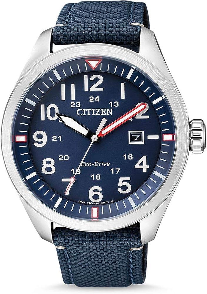 Citizen - Reloj analógico de Cuarzo para Hombre, con Correa de Nailon