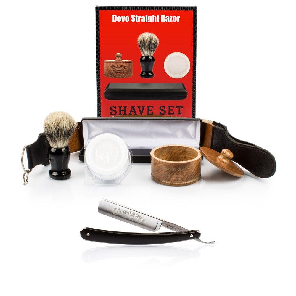 DOVO 506B, GB Buckingham & Sons, Col Conk Straight Razor with Luxury Shave Set