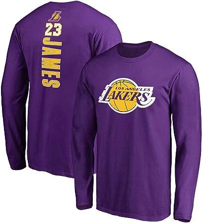 HBSC # 23 L.A.Lakers Lebron James Camiseta de Baloncesto para Hombre Ropa de Entrenamiento de Jersey de Manga Larga Camiseta Estampada Chaqueta Morada 1Hombres Mujeres Purple-XXL: Amazon.es: Hogar