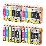 Bigger Replacement for Canon PLI-525XL CLI-526XL Ink Cartridges to use with Pixma iP4950 MG5350 MG6250 MG8150 MG8250 MX885 iX6550 MX895(4 PGBK, 4 Black, 4 Cyan, 4 Magenta, 4 Yellow) 20 Pack