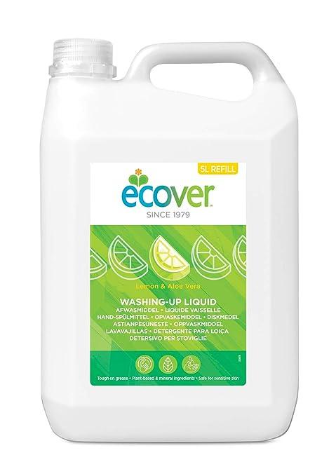 Ecover 4003317 - Detergente liquido para lavavajillas con limón y aloe vera