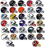NFL Stickers Set. 50 Football Helmet Stickers (All 32 Team Logos and more) 3.25 X 2.5 Size