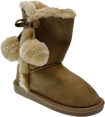 girls shearling boots