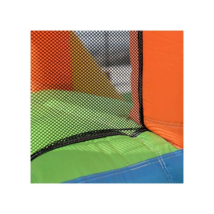 61DdfmCUsyL ✦ SEGURIDAD: la parte superior tiene un gran muro de malla que rodea el área de salto, manteniendo a su hijo seguro mientras salta y permitiendo la máxima ventilación. Además, puede conocer todas las acciones a través de la red de malla. M MATERIALES DE ALTA CALIDAD: los muros de escalada, los toboganes curvos y las grandes piscinas para niños están hechos de un material 420D Oxford muy resistente a los pinchazos, mientras que el área de rebote se hace desde el exclusivo 840D Oxford para mejorar su durabilidad. INF INFLACIÓN RÁPIDA: establezca esta hamaca sin importar en el patio, el parque, el césped con un soplador de flujo continuo y de servicio pesado. Con nuestro potente soplador, sus hijos recibirán un maravilloso castillo inflable en 1 a 3 minutos.