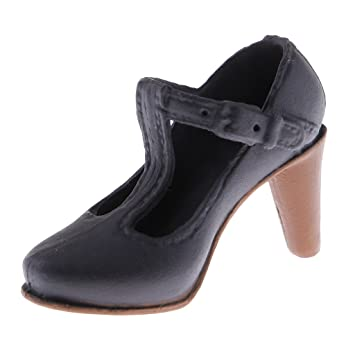 1//6 Scale T-strap Mary Jane High Heeled Pump Shoes for 12/'/' Phicen CY Girls Body