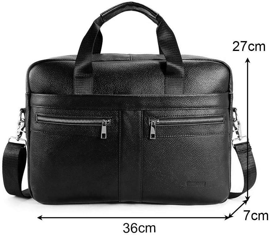 Businesstasche Herren Leder Aktentasche M/änner Handtasche Vintage Laptoptasche Arbeitstasche Umh/ängetasche Schultertasche f/ür 14 Zoll Notebook a-Braun-1