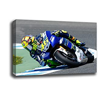 Cuadros Camara réf.26674 Tableau moderne photo moto Valentino Rossi Yamaha 97x 62cm