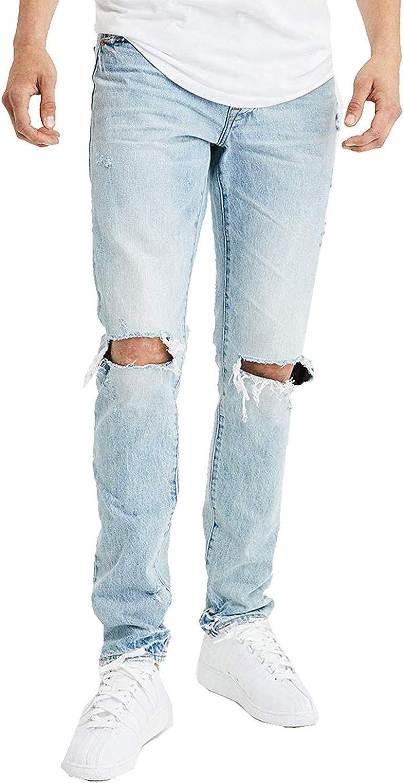 American Eagle Mens 4397508 Slim Jean, Light Destroy Wash (34x30)