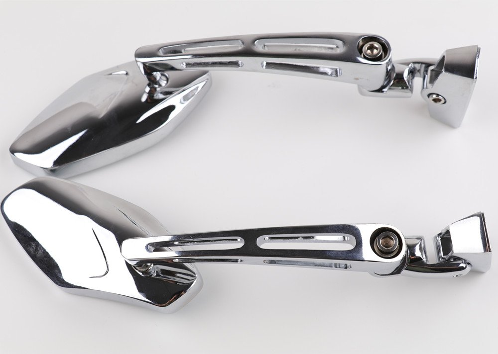 XYZCTEM Universal Chrome Adjust Racing Sport Mirrors for Honda CBR 600 1000 RR F4i F4 Suzuki GSXR 600 700 1000 1300 Hayabusa Busa Kawasaki Ninja ZX 6R 7R 9R 10R 12R 14R Yamaha YZF R1 R6 R6S 1000 600