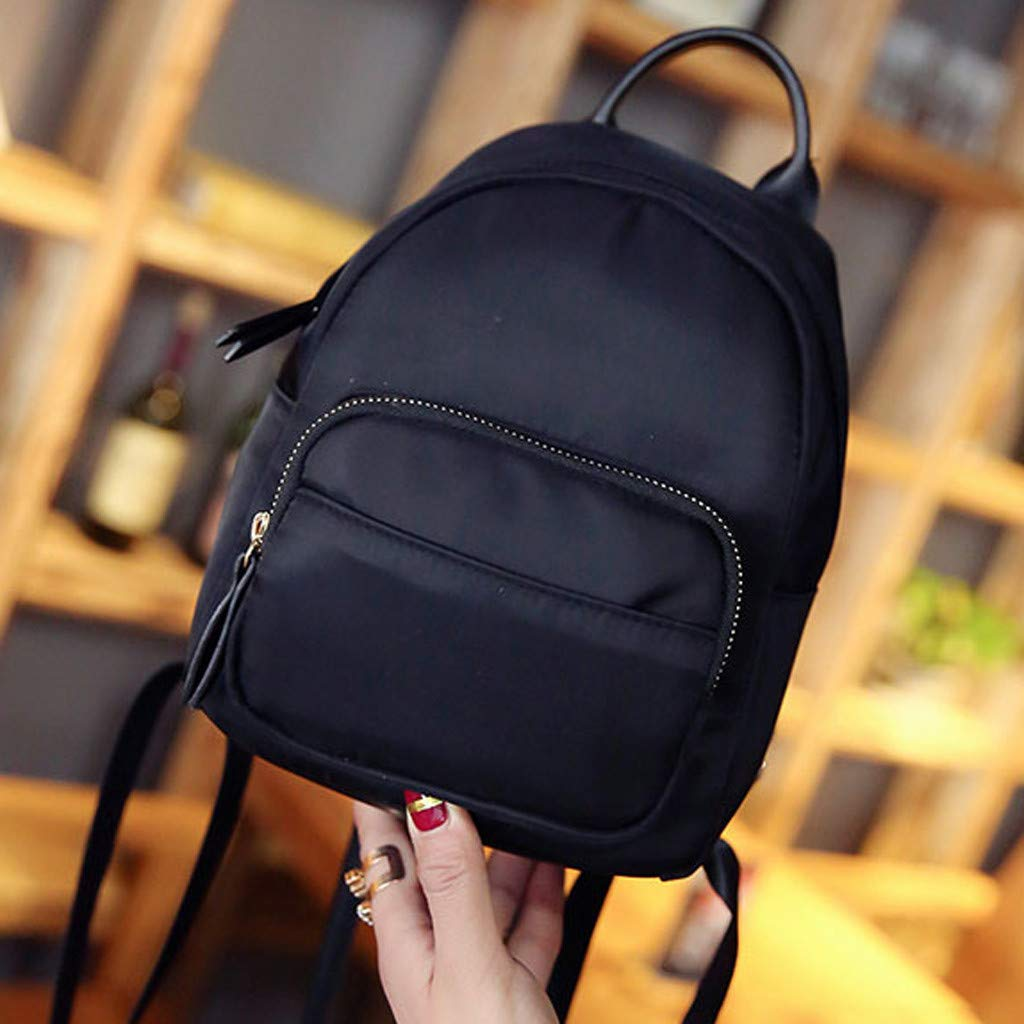 347937590680 Clearance Sale!DEESEE(TM)🍁🍁Camouflage Unisex Leather Backpack Laptop  Retro Travel School Rucksack Bag (Black)