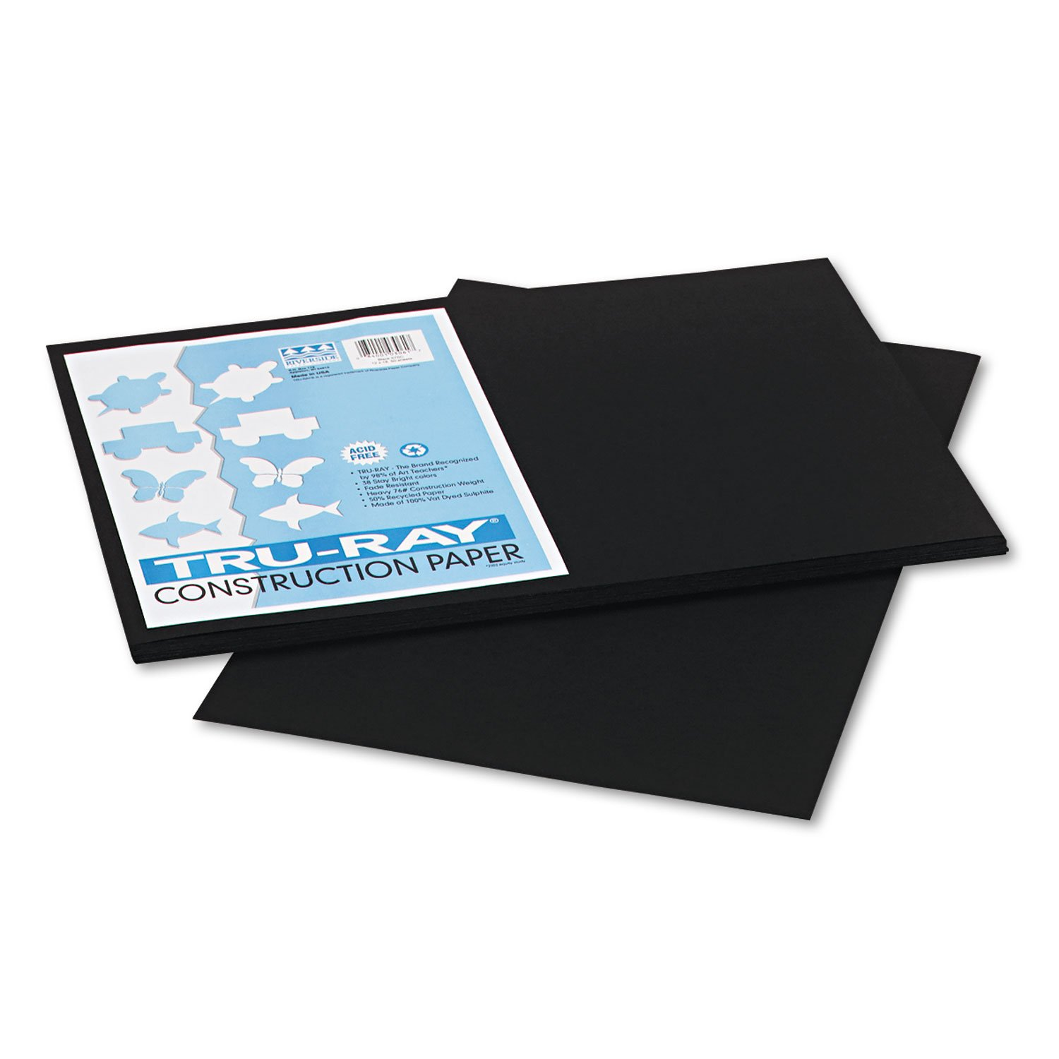 PAC103061 - Pacon Tru-Ray Construction Paper, BLACK, 12 x 18