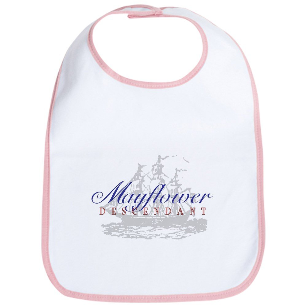 CafePress - Mayflower Descendant - Bib - Cute Cloth Baby Bib, Toddler Bib