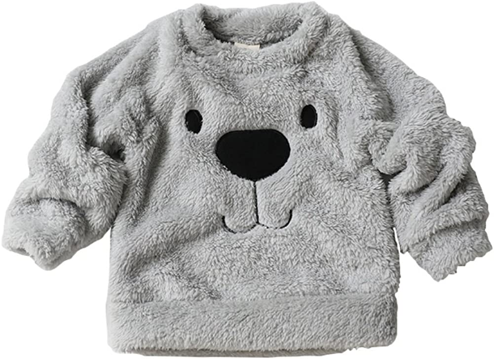 Timall Baby Girl Boy Cute Bear Furry White Comfortable Soft Thick Wool Sweater 0-3Years