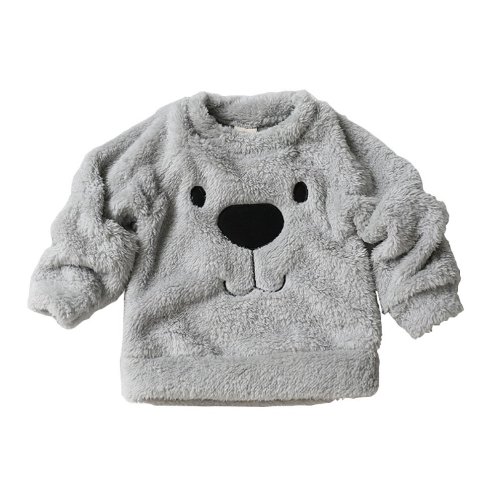 Timall Baby Cute Bear Furry White Comfortable Soft Thick Wool Sweater