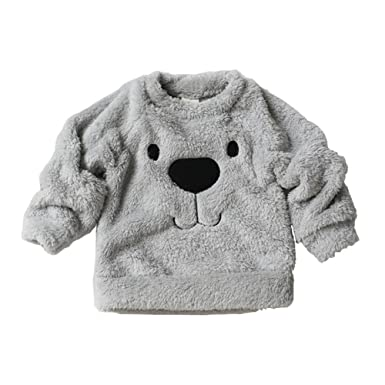 dd322eff365f Amazon.com  Timall Baby Cute Bear Furry White Comfortable Soft Thick ...
