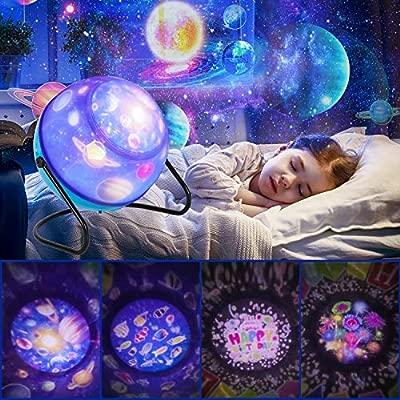 Proyector Estrellas Lámpara De Dormir,Luz de Nocturna Infantil estrella proyector 360° Rotación Luz y 6 Modos Regalo Cumpleaños para Niños y Bebés ...