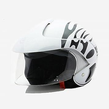 Casco de motocicleta estilo vintage, medio abierto, con capacete; cascos de moto para