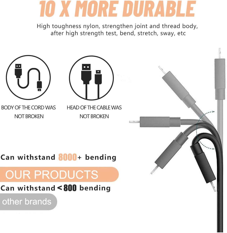 2Pack 1.5M Cable Phone, Cable Cargador Phone Nylon Trenzado Cable USB de Carga R/ápida Compatible con Phone 11 Pro//11 Pro Max//Xr//Xs//X//8//8 Plus//7//6s//6Plus//6//Pad//Pod y m/ás