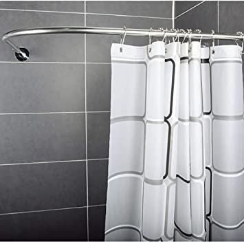 GYL YULIANGAN LWFB Shower Curtain Rod Stainless Steel Extendable Telescopic Curved Free