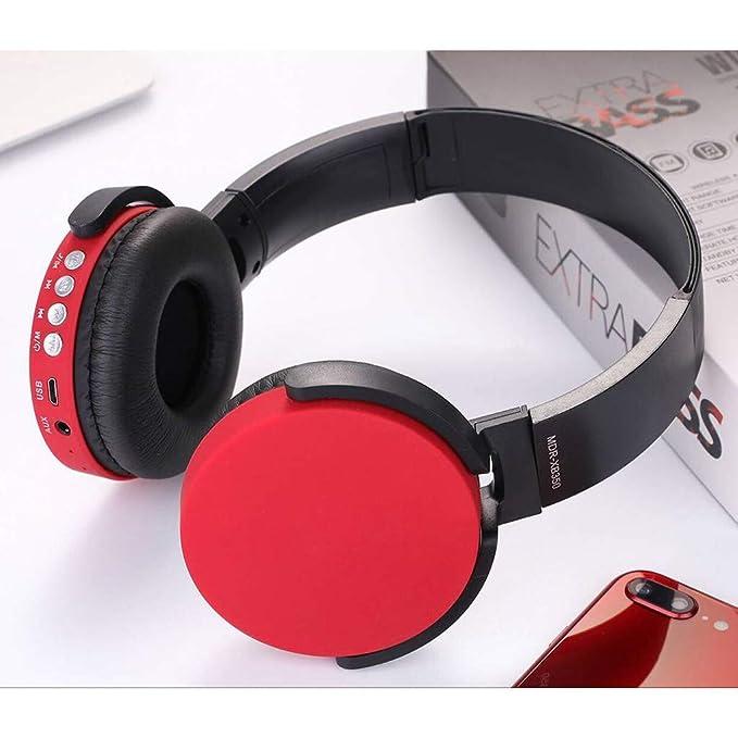 SamMoSon 2019 Auriculares Bluetooth Inalambricos Deportivos,Ver-Ear Teens con Micrófono Auriculares Plegables para DJ Auriculares De Juego con Cable De 3,5 ...