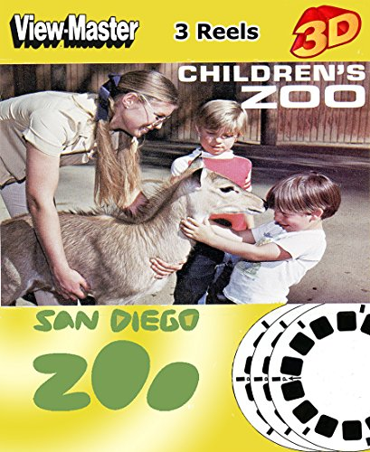ViewMaster Children's Zoo San Diego -3 reels - 21 3D Images