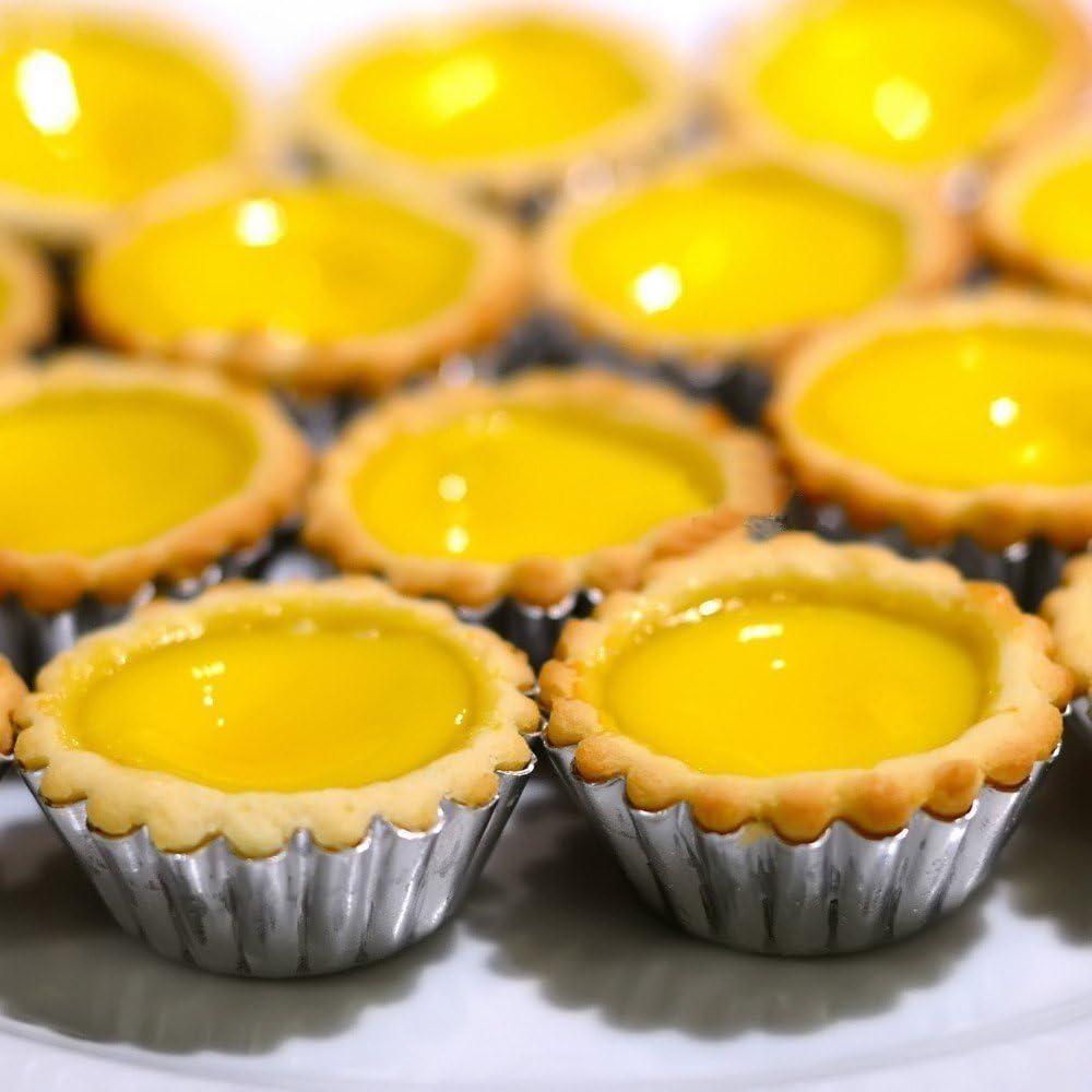 Tosnail 50pcs Egg Tart Aluminum Cupcake Cake Cookie Mold Tin Baking Tool Baking Cups by Tosnail