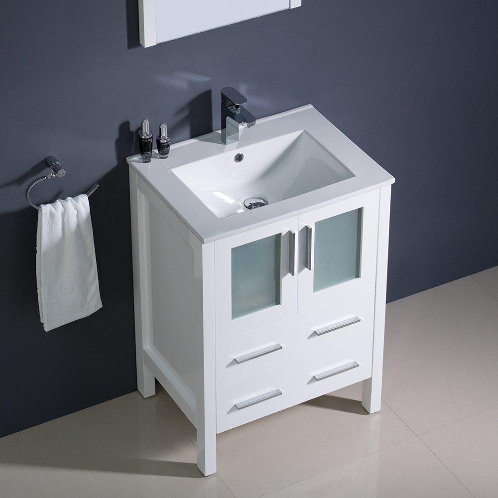 fresca bath fvnwhuns torino  vanity with sink white  - fresca bath fvnwhuns torino  vanity with sink white   amazoncom