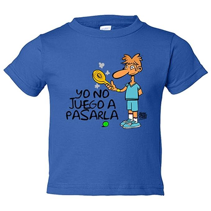Camiseta niño Padel yo no juego a pasarla - Amarillo, 3-4 ...