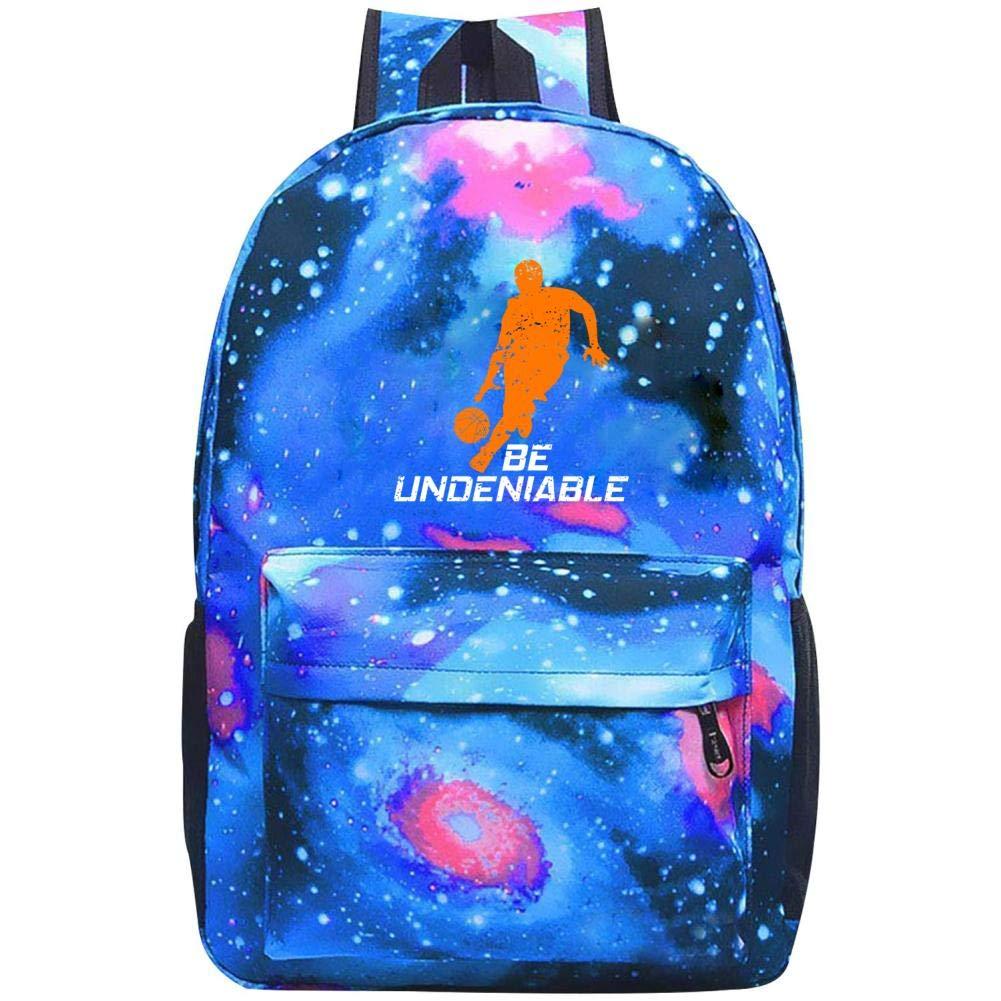 バスケットボール - Be Undeniable Galaxy Universe Space Galaxy スクールバックパック スクールバッグ 大容量20~35Lバッグ ONE SIZE B07N3PF7R3 ブルー ONE SIZE