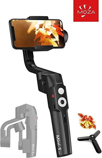 control de enfoque zoom de un bot/ón Hyper-Lapse para iPhone Samsung etc. MOZA Mini S Estabilizador de card/án plegable de 3 ejes para tel/éfonos inteligentes con reproducci/ón r/ápida