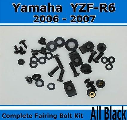 NT carenado Carenado sujetadores negro cuerpo tornillos, tornillos, y Hardware para 2006 2007 Yamaha
