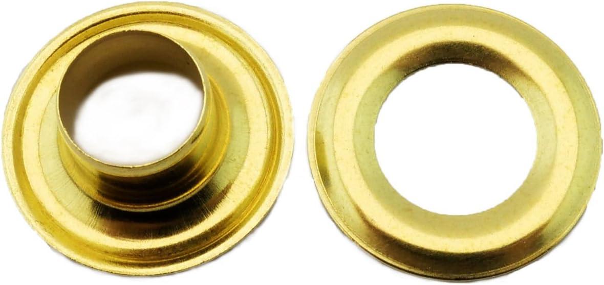 Osborne Brass Grommets /& Washers #G1-00 Size 00 144 Sets C.S 3//16 Hole