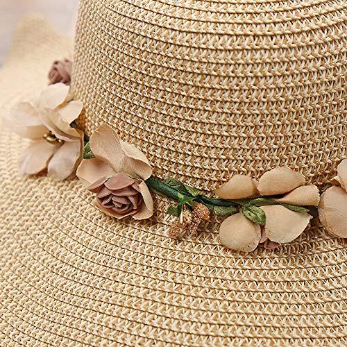 Beladla Sombrero Mujer Verano Bowknot De ala Ancha Protector Solar Visera Sombreros De Paja Verano Bohemia Maxi: Amazon.es: Ropa y accesorios