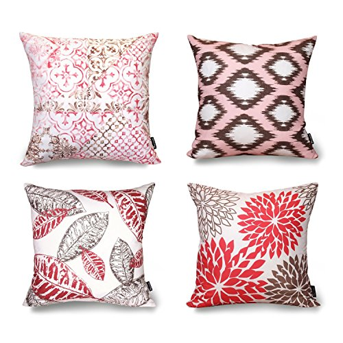 Decorative Throw Pillow Case Cushion Cover Set of 4
