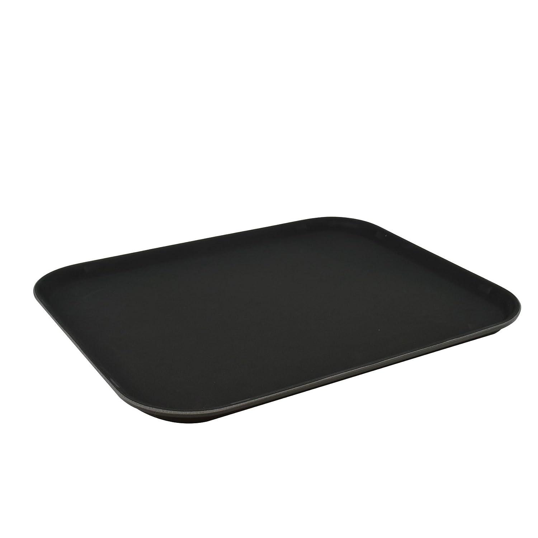 Argon Tableware Black Non Slip Serving Tray - 35x45cm (14x18