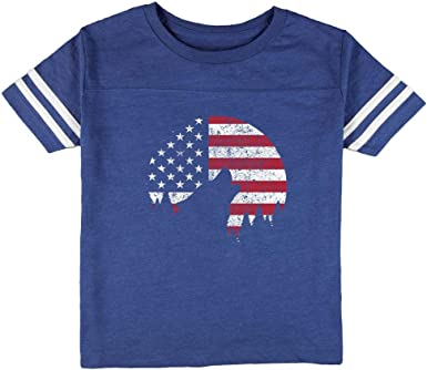 Old Glory Wolf Howling Moon Silhouette Toddler T Shirt
