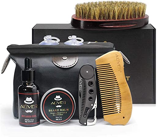 Outstanding Amazon Com Volwco Beard Care Kit For Men Beard Brush Beard Schematic Wiring Diagrams Phreekkolirunnerswayorg