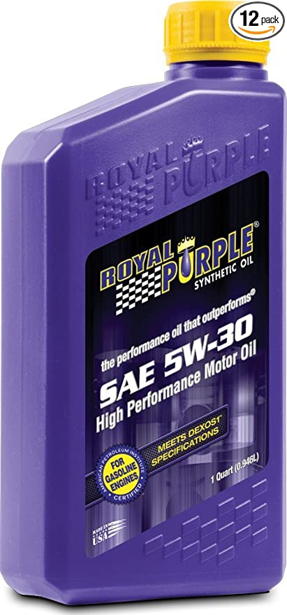 Royal Purple Oil Review >> Royal Purple 12530 Api Licensed Sae 5w 30 High Performance Synthetic Motor Oil 1 Qt Case Of 12