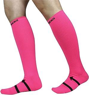 WGE Chaussettes de Compression Running Hommes et Femmes Marathon d'équitation Chaussettes de Compression extérieures Chaussettes de Sport Bas élastiques