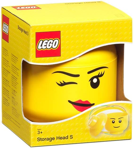 LEGO Storage Head Small-Silly, Yellow