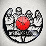 Art Vintage System of a Down band vinyl record wall clock, System of a Down wall poster, System of a Down decal