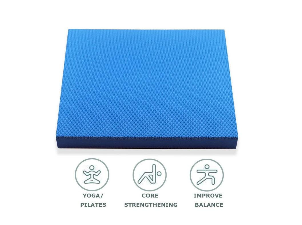 Balance Pad,for fitness and yoga exercises - designed for stability, rehab and physical therapy - this soft Balance Cushion can be used in combination with a standing desk or as a knee foam pad.,MUS01