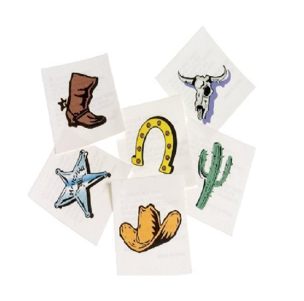 2-Pack US Toy Western Temporary Tattoos