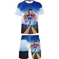 Silver Basic Niños Ropa Deportiva Chándal Sonic Camiseta y Pantalones Conjunto de Pijama de Verano Videojuego Sonic The…