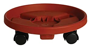 Bloem Fiskars 95122C 12-Inch Round Plant Caddy, Color Terracotta