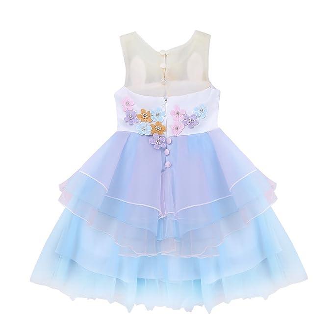 Amazon.com: YaphetS Girls Toddler Unicorn Costume Cosplay Dress Party Princess Tutu Dress: Clothing