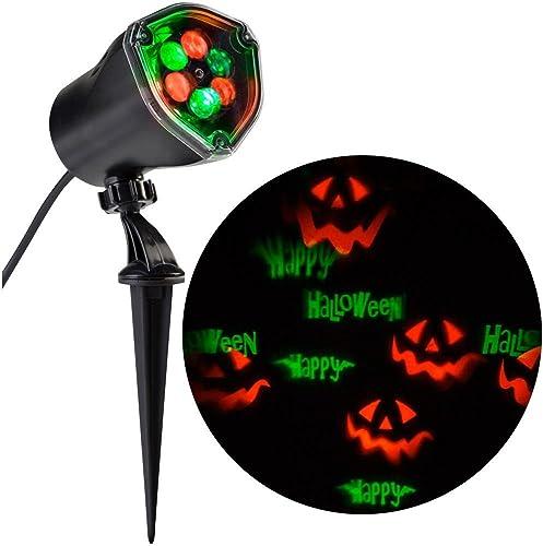 Lightshow Strobing LED Chasing Happy Halloween Strobe Spotlight Whirl-a-Motion