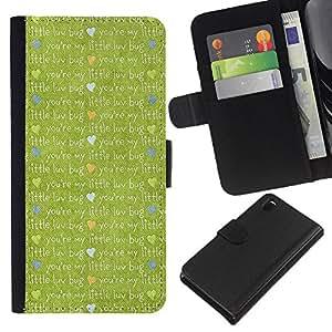 Ihec-Tech / Flip PU Cuero Cover Case para Sony Xperia Z3 D6603 / D6633 / D6643 / D6653 / D6616 - Cute cartoon cloth